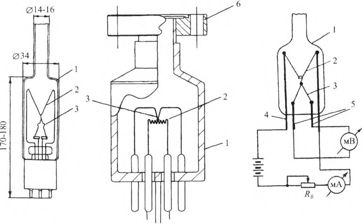 конструкция термопарных вакуумметров