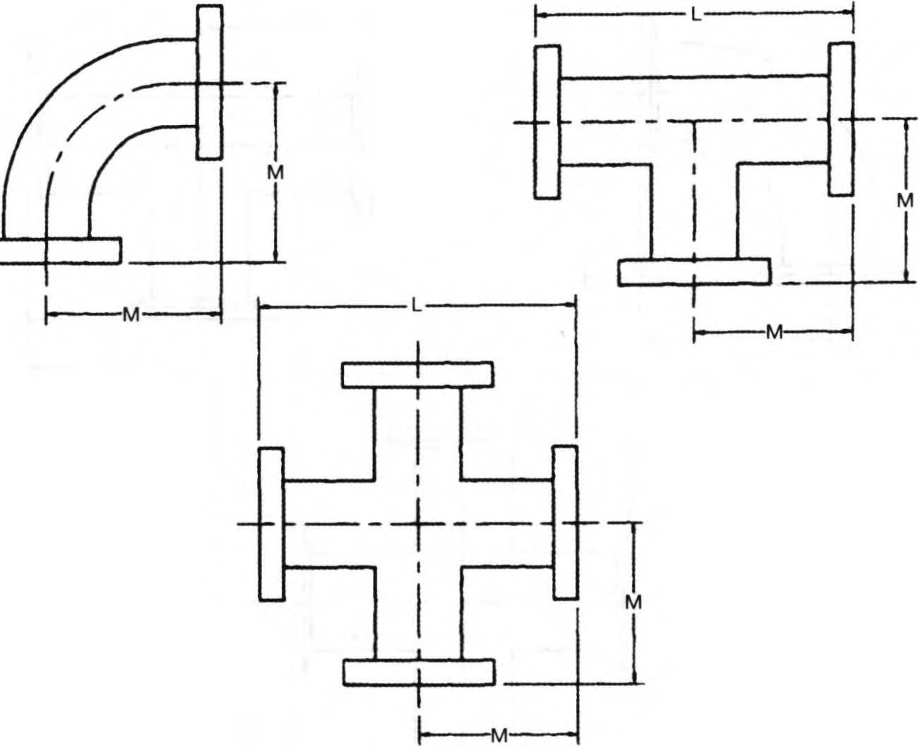 размеры коленс уплотнителями